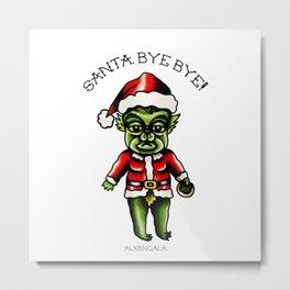 Baby Grinch Kewpie Metal Print