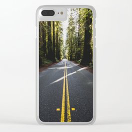 Redwoods Road Trip - Nature Photography Clear iPhone Case