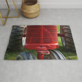 Red Farmall Tractor Rug