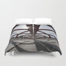 Calgary Peace Bridge; great Architecture Duvet Cover