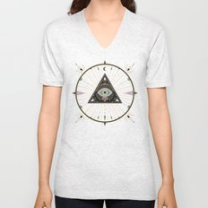 Evil Eye Mandala – Black Unisex V-Neck
