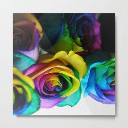 Rainbow Roses 19 Metal Print