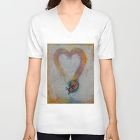 snail V-neck T-shirts featuring Snail by Michael Creese