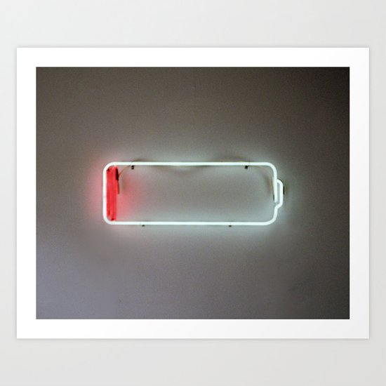 Low Battery Art Print