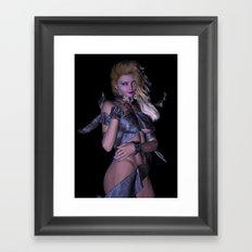 Leather Wrap girl  Framed Art Print