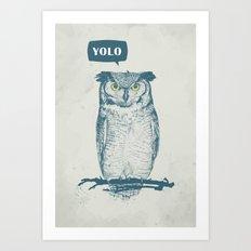 YOLO Art Print