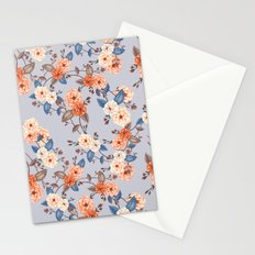 Roses, Auburn and Dove Grey Stationery Cards