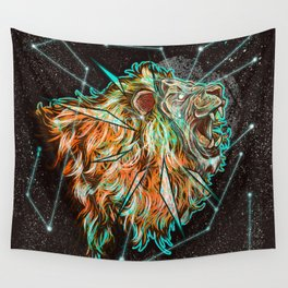 Space lion  Wall Tapestry
