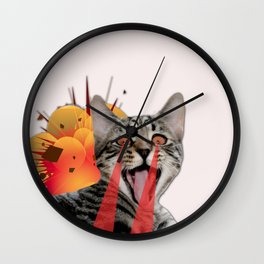 CAT ATTACK! Wall Clock