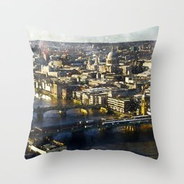 london-panorama-shard-city-view Throw Pillow