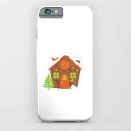 Christmas Cute Gingerbread House iPhone Case