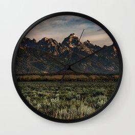 Teton Morning Wall Clock