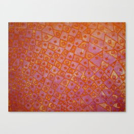 Pink and Orange Fleur de Lis Canvas Print