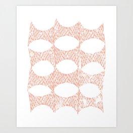 Arches Block Print in Peach Art Print