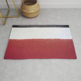 Black White Red 01 Rug