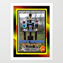 The Battle of the Arcades card Art Print