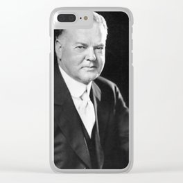 Herbert Hoover Clear iPhone Case