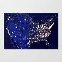 america Canvas Prints featuring America by 2sweet4words Designs