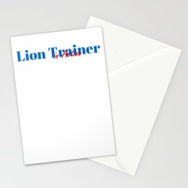 Happy Lion Trainer Stationery Cards