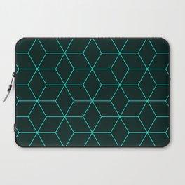 Cube Pattern 01 Green Laptop Sleeve