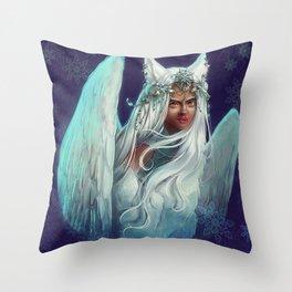 Snow Goddess Throw Pillow