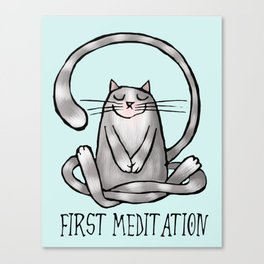 First meditation Canvas Print