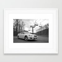 subaru Framed Art Prints featuring Subaru Legacy by 218studio