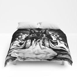 Evil King on Throne Comforters