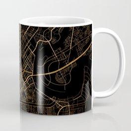 Black and gold Ho Chi Minh map, Vietnam Coffee Mug