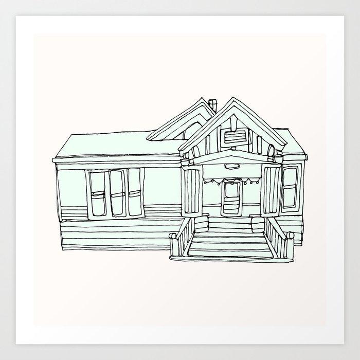 Cute home Art Print