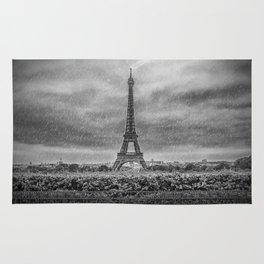 PARIS Eiffel Tower Thunderstorm Rug
