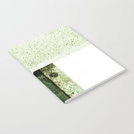 White Green Concrete Notebook