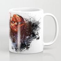 red hood Mugs featuring Red Hood by Vincent Vernacatola