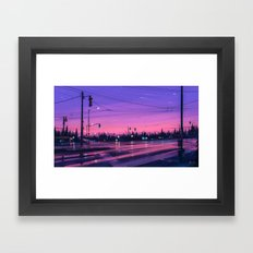 7 p.m. Framed Art Print