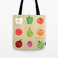 fruit Tote Bags featuring Fruit by Jessie Ford