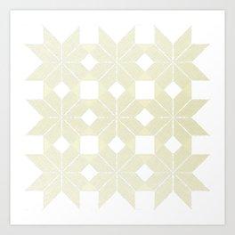 Snowflakes #61, White Wishmas Art Print