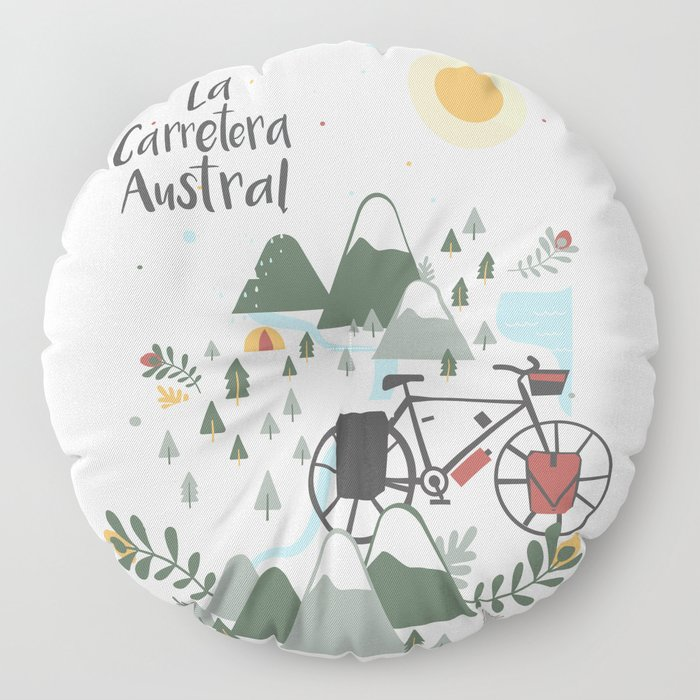 La Carretera Austral Floor Pillow