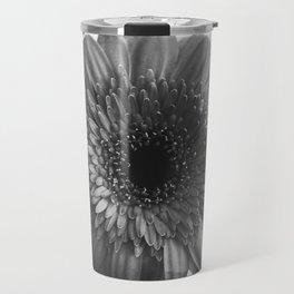 Black and White Gerbera Travel Mug