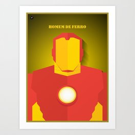 Homem de Ferro Art Print