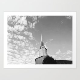 Steeple and Clouds Art Print