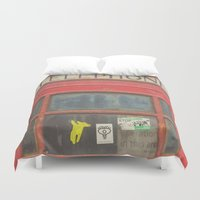 telephone Duvet Covers featuring Telephone by Benjamin Robles Art