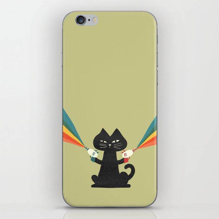 Ray gun cat iPhone Skin
