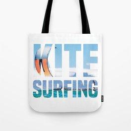 Kitesurfing Kitesurfer Kiteboarder Tote Bag