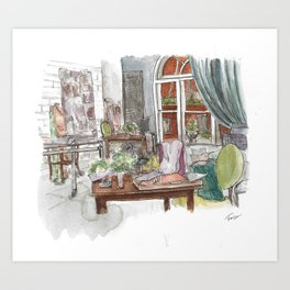 Will and Grace - Grace Adler Designs Studio Watercolor Painting Art Print