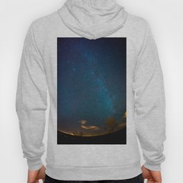 Winter Night Sky Milky Way Hoody
