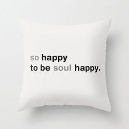 happy_milky background Throw Pillow