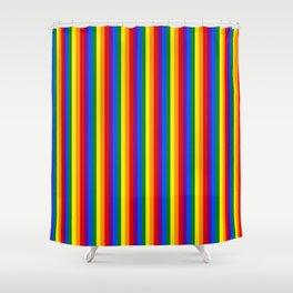 Mini Verticle Gay Pride Rainbow Beach Stripes Shower Curtain