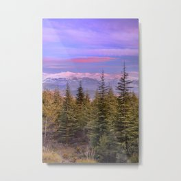 """At the mountains"" Metal Print"