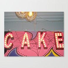 Cake ~ pop carnival signage Canvas Print