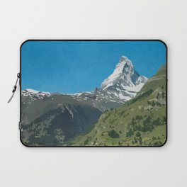 Retro Swiss travel Zermatt and Mount Matterhorn  Laptop Sleeve